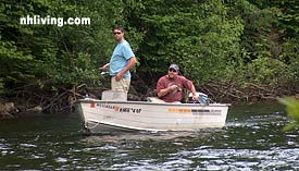 Trolling for trout in NH