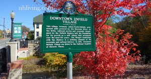 historic photo sign of Enfield NH