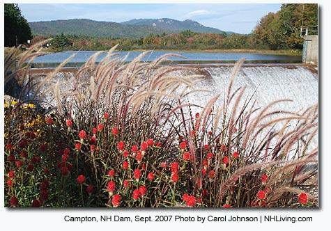 Campton Dam, Campton NH White Mountains region New Hampshire