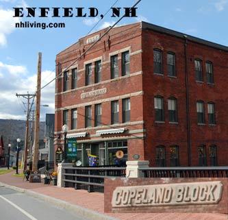 Copeland Block, downtown Enfield New Hampshire Dartmouth Lake Sunapee region