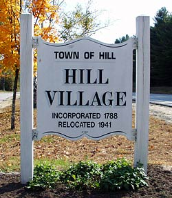 Town Sign, Hill New Hampshire Lakes region