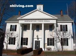 Town Hall, Hopkinton New Hampshire Merrimack Valley region
