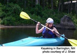 Kayaking Barrington, NH Lakes Region New Hampshire