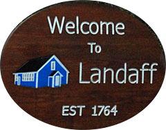 Town sign, Landaff New Hampshire White Mountains region