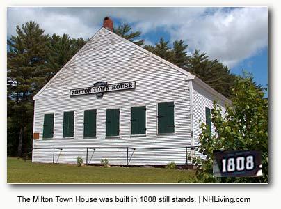 town hall, Milton New Hampshire Lakes region