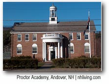 Proctor Academy, Andover, NH Dartmouth Lake Sunapee New Hampshire region