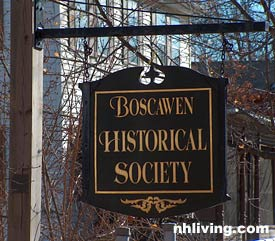 Boscawen Historical Society, Merrimack Valley New Hampshire