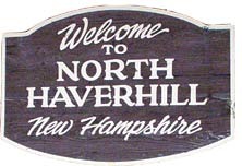 town sign North Haverhill New Hampshire White Mountains region