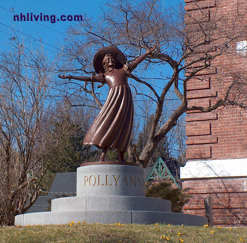 Pollyanna statue, Littleton New Hampshire White Mountains region