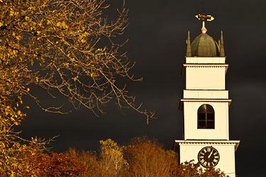 Church spire, Lyme New Hampshire White Mountains region