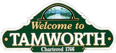 Town Sign Tamworth NH