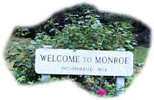 town sign, Monroe New Hampshire White Mountains region