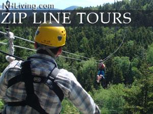 New Hampshire zip line rides