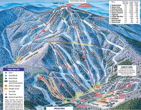 mount sunapee ski map