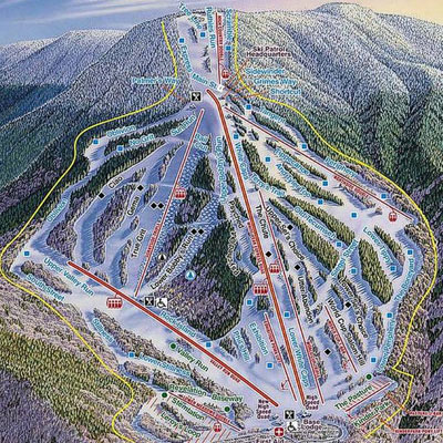 waterville valley ski map