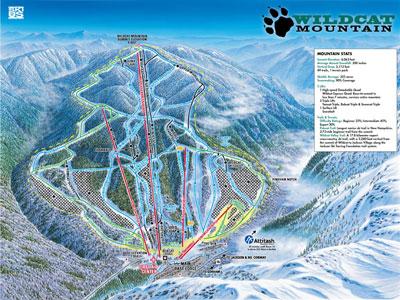 wildcat mountain ski map