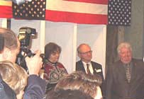 Voting in the White Mountains, Dixville, NH , PRESS CONFERENCE