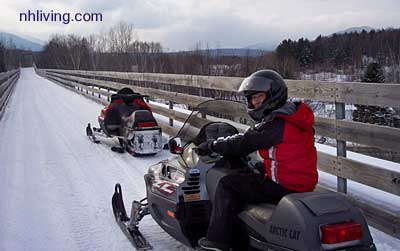 new hampshire snowmobile trails, NH snowmobiling, snowmobile information