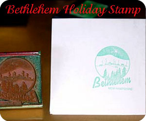 Bethlehem Holiday Stamp,New Hampshire holidays