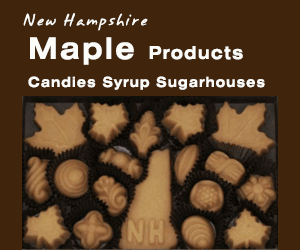 NH Maple Syrup and Maple Candies make great presents. Visit NH Products and Maple Sugar Producers