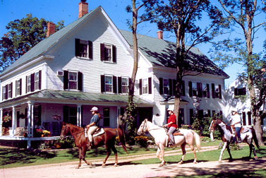 Farm by the River B&B and Stables offers horseback rides and sleigh rides year 'round.