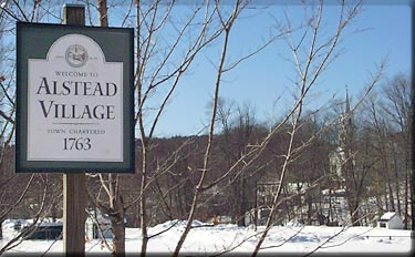 Alstead Village town sign, new hampshire