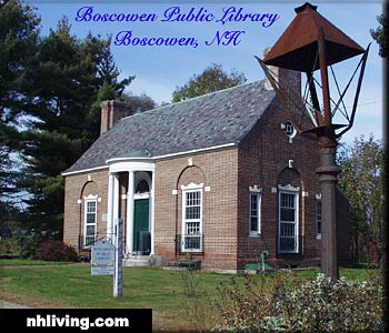 Public Library, Boscawen, NH, Merrimack Valley New Hampshire