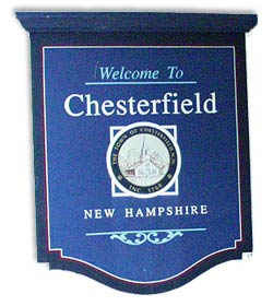Town Sign, Chesterfield New Hampshire