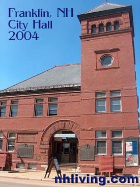 City Hall, Franklin New Hampshire Lakes region