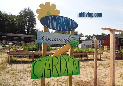 Community Garden, Lancaster New Hampshire Great North Woods region