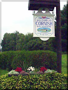 Cornish Town Sign New Hampshire Dartmouth Lake Sunapee community