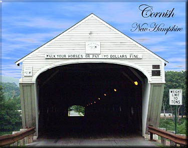 covered bridge cornish windsor lape sunapee region NH