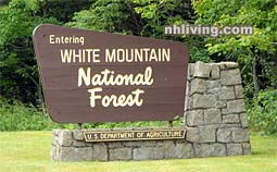 Entering White Mountain National Forest sign
