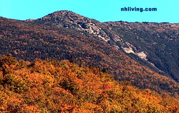 View of Franconia Notch in the Fall