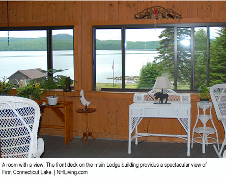 NH Lakefront Lodging, Pittsburg NH  Dining The Glen