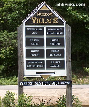 Village Sign, Freedom New Hampshire Lakes region