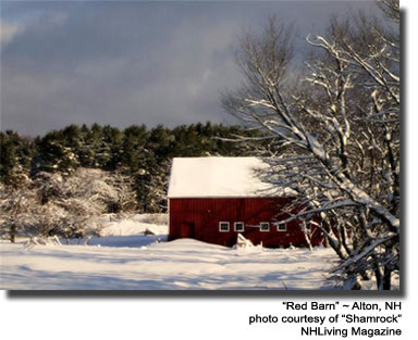Red Barn Alton New Hampshire lakes region