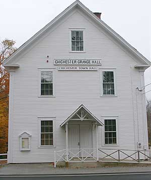 Grange Hall, Chichester New Hampshire