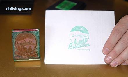 Christmas postal stamp, bethlehem, NH