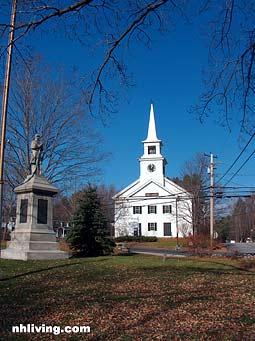 Monument Church, Hopkinton New Hampshire Merrimack Valley region