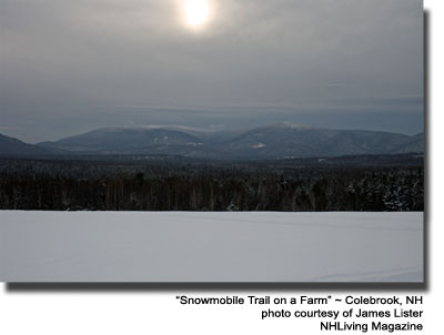 Snowmobile Trails Colebrook NH Great North Woods