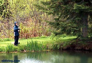 fishing at Lopstick Trout Pond