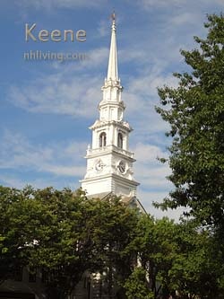 church steeple, Keene New Hampshire Monadnock region