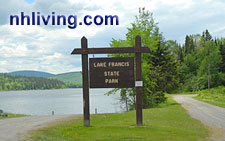 N.H. State Parks System, Lake Frances State Park Pittsburg NH