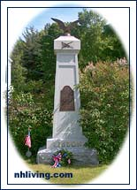 war memorial, Lisbon New Hampshire White Mountain region