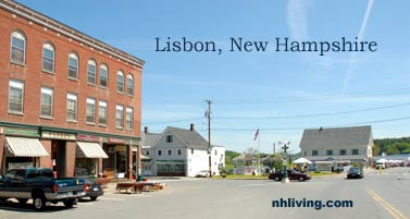 Town square, Lisbon New Hampshire White Mountain region