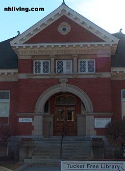 Tucker Free Library, Henniker New Hampshire Merrimack Valley region
