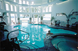 Indoor outdoor pools at the Inns at mills fall, meredith nh