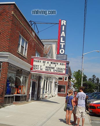 Rialto Cinema, Lancaster New Hampshire Great North Woods region