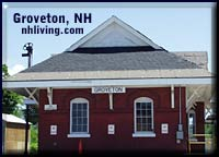 Groveton train depot New Hampshire great north woods region